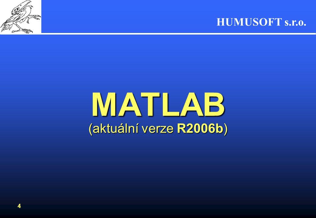MATLAB (aktuální verze R2006b)