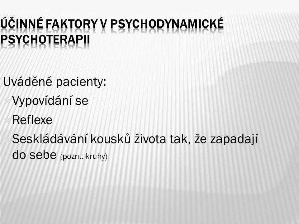 Účinné faktory v psychodynamické psychoterapii