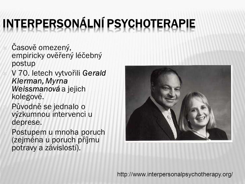INTERPERSONÁLNÍ PSYCHOTERAPIE