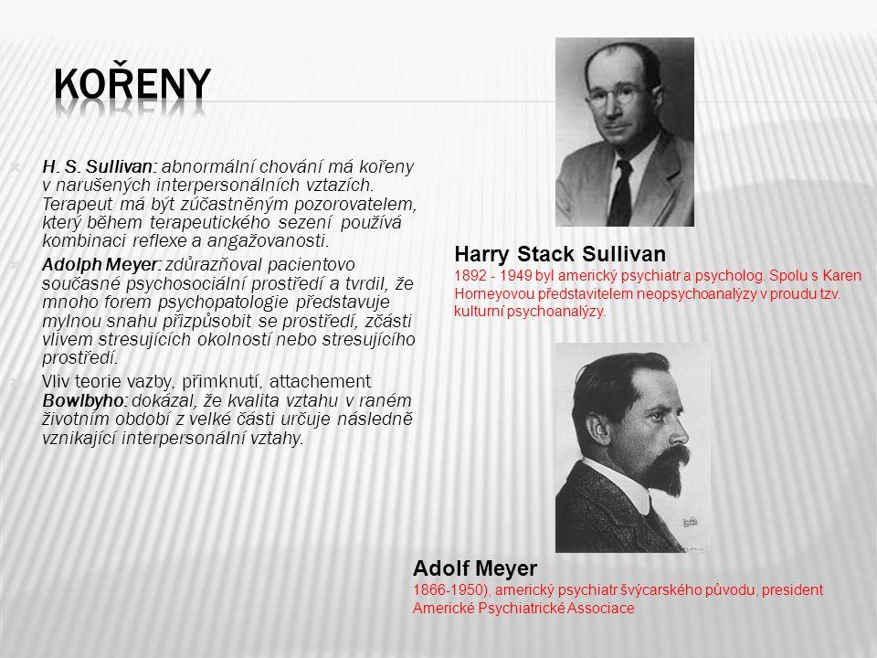 kořeny Harry Stack Sullivan Adolf Meyer