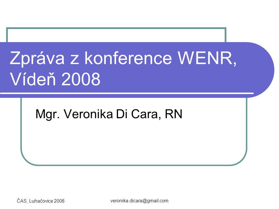 Zpráva z konference WENR, Vídeň 2008