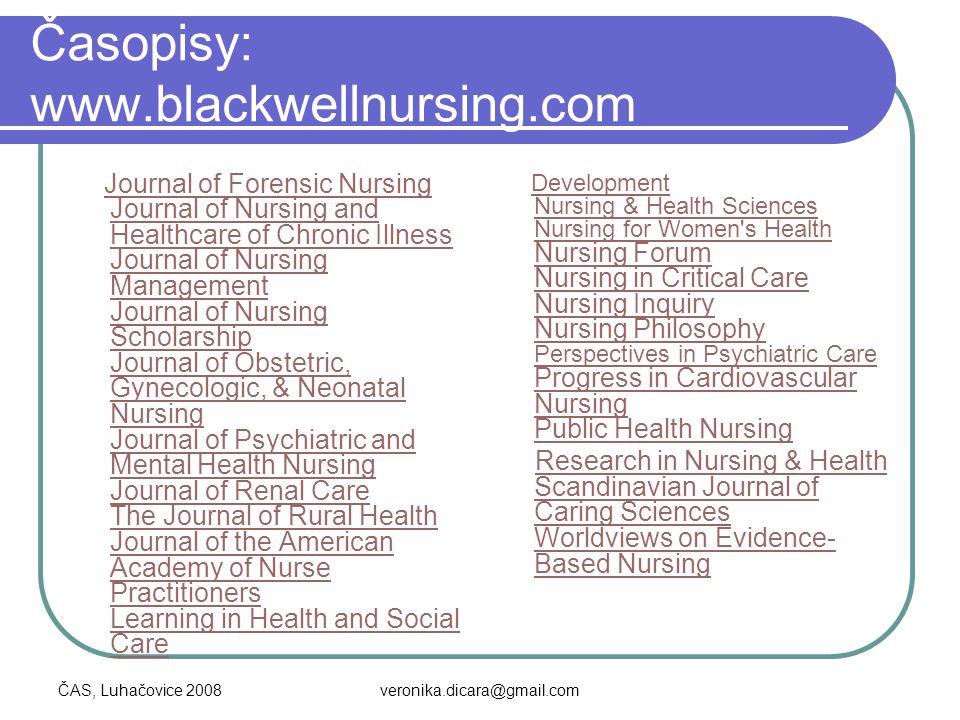 Časopisy: www.blackwellnursing.com