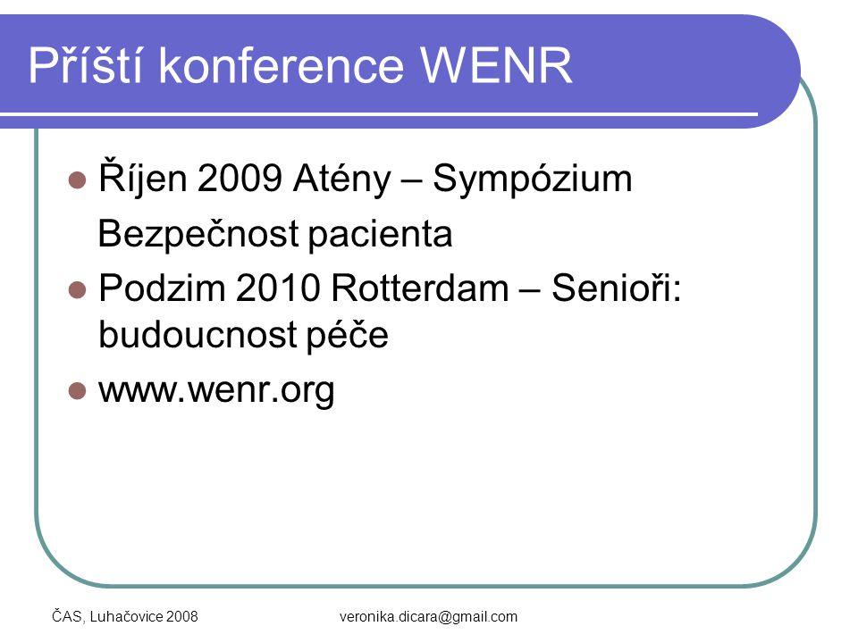 Příští konference WENR