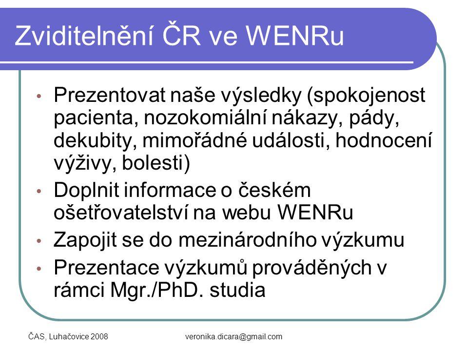 Zviditelnění ČR ve WENRu