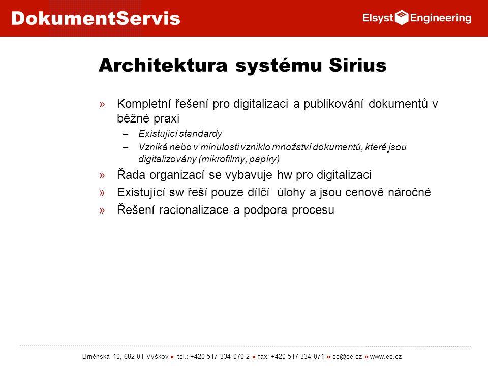 Architektura systému Sirius