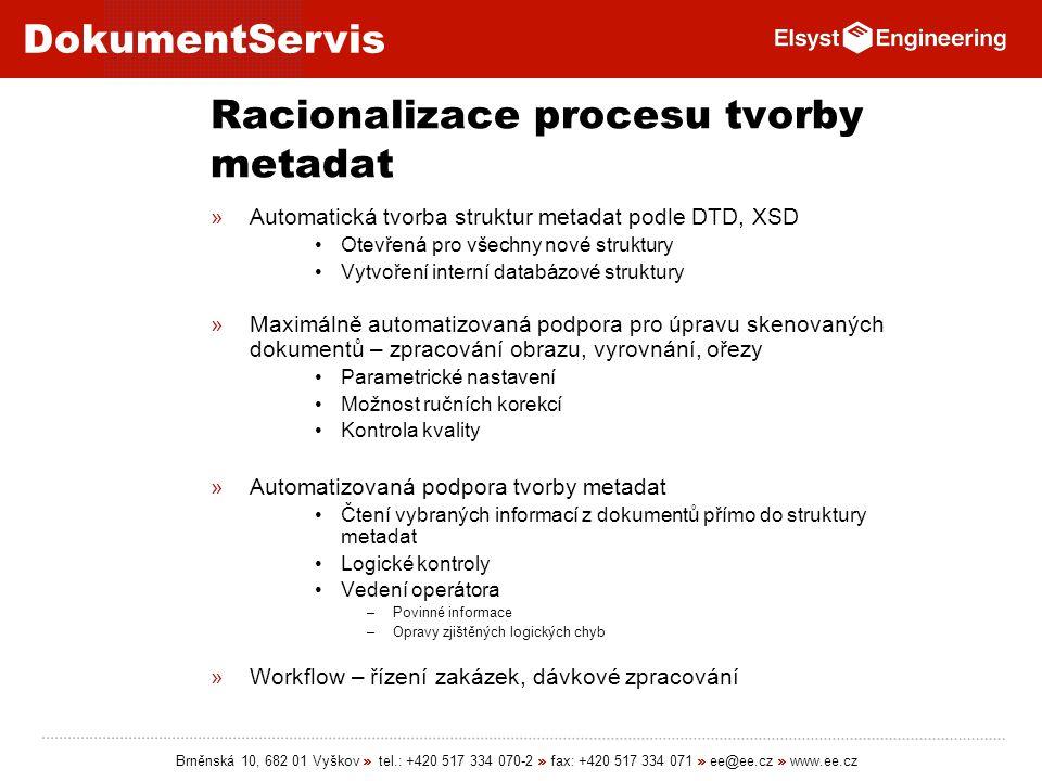Racionalizace procesu tvorby metadat
