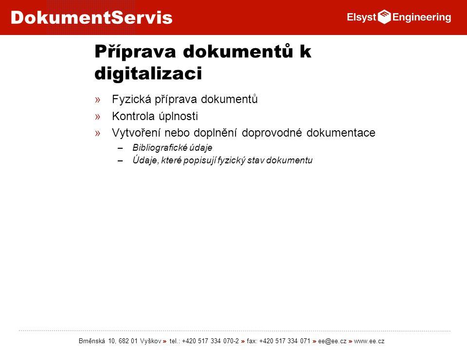 Příprava dokumentů k digitalizaci