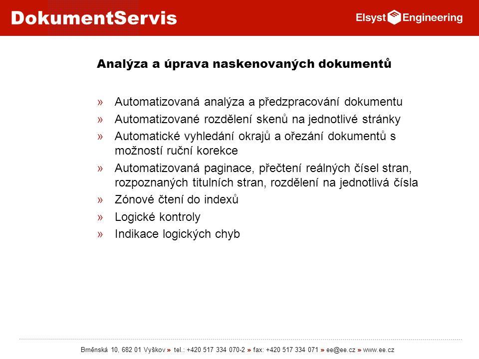 Analýza a úprava naskenovaných dokumentů
