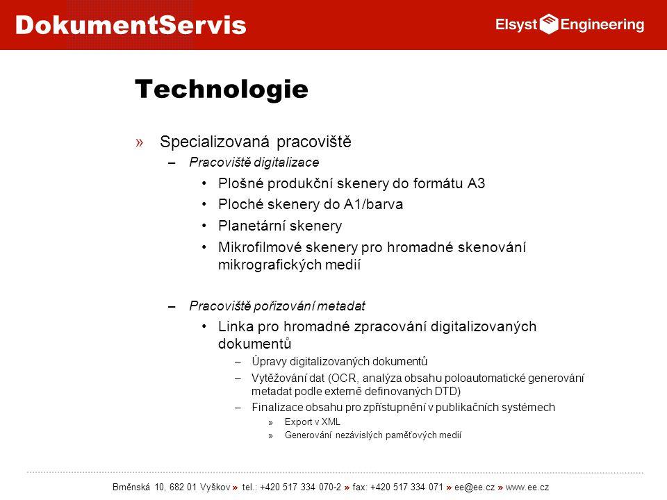 Technologie Specializovaná pracoviště