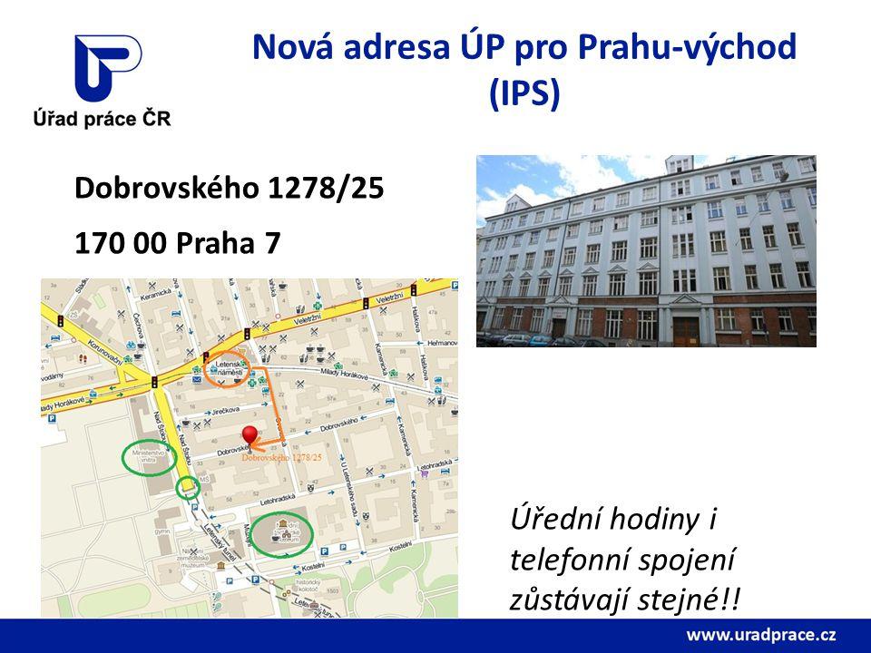 Nová adresa ÚP pro Prahu-východ (IPS)