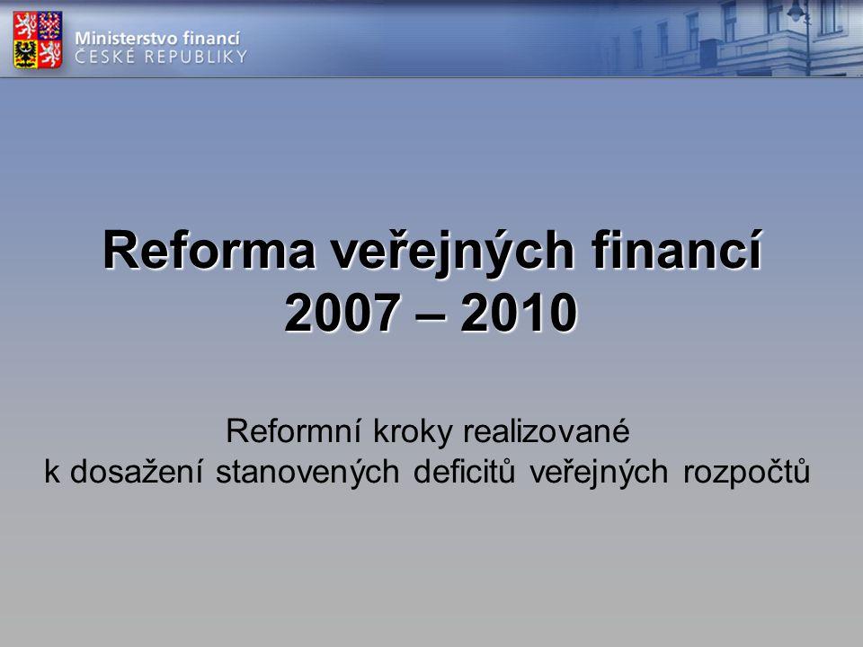 Reforma veřejných financí 2007 – 2010