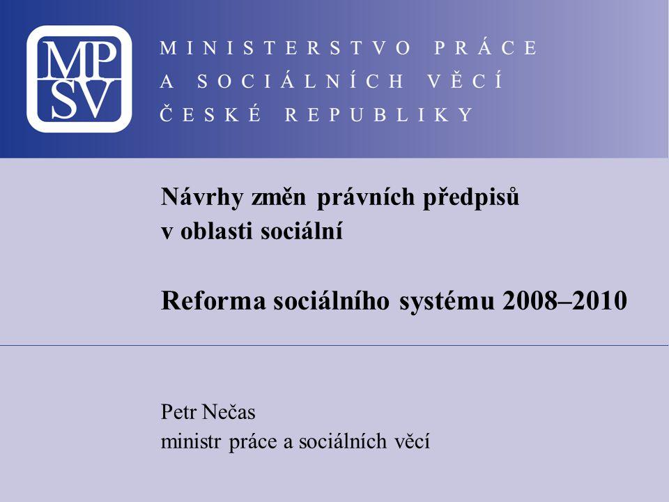 Reforma sociálního systému 2008–2010