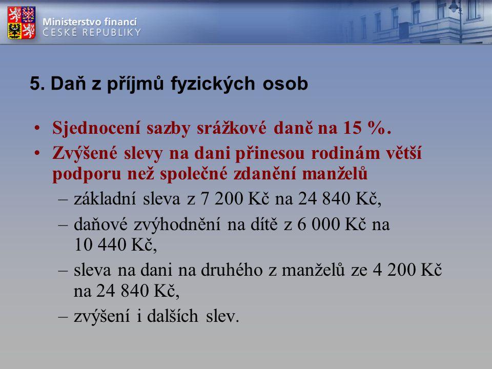 5. Daň z příjmů fyzických osob