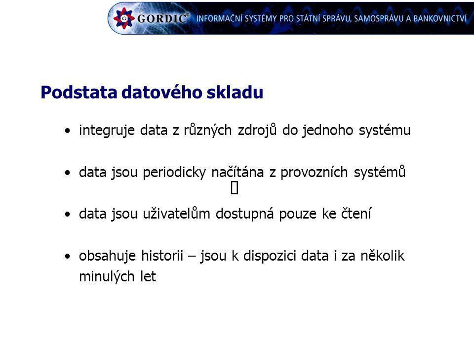 ô Podstata datového skladu