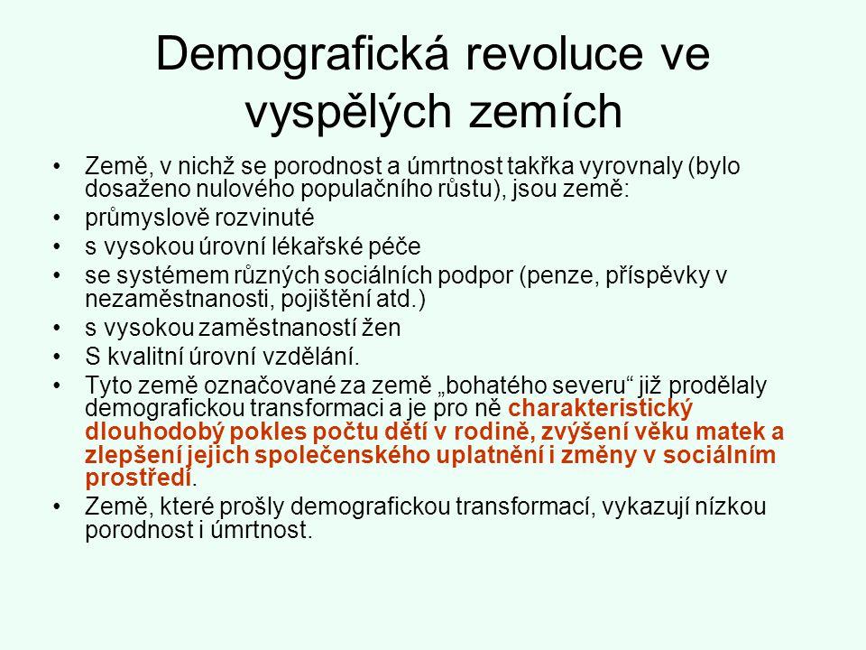 Demografická revoluce ve vyspělých zemích