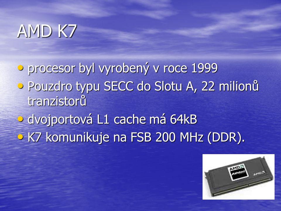 AMD K7 procesor byl vyrobený v roce 1999