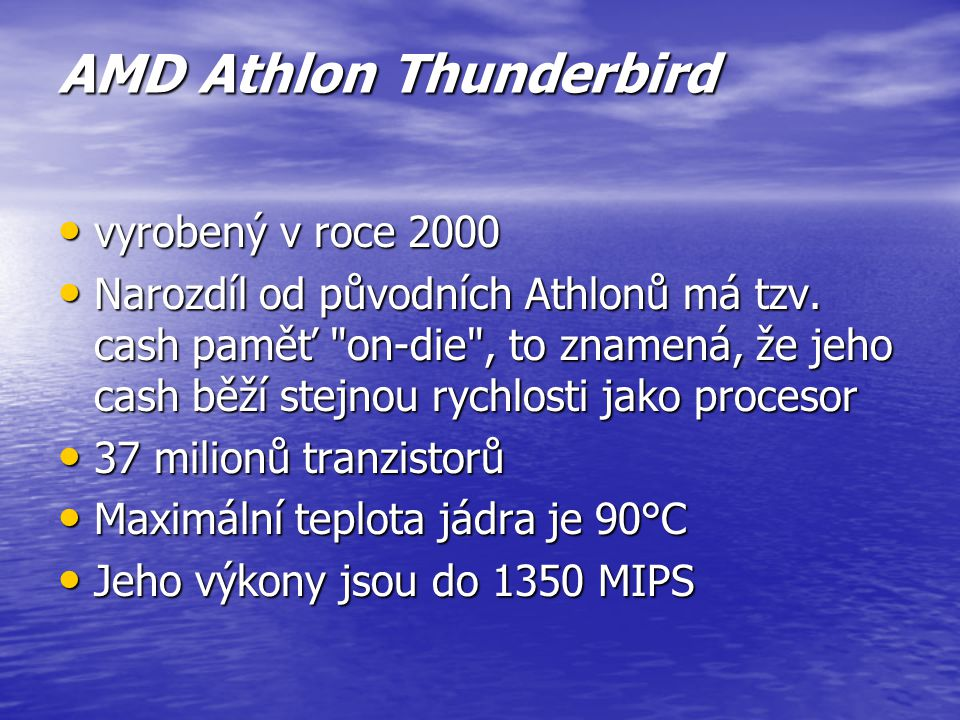 AMD Athlon Thunderbird