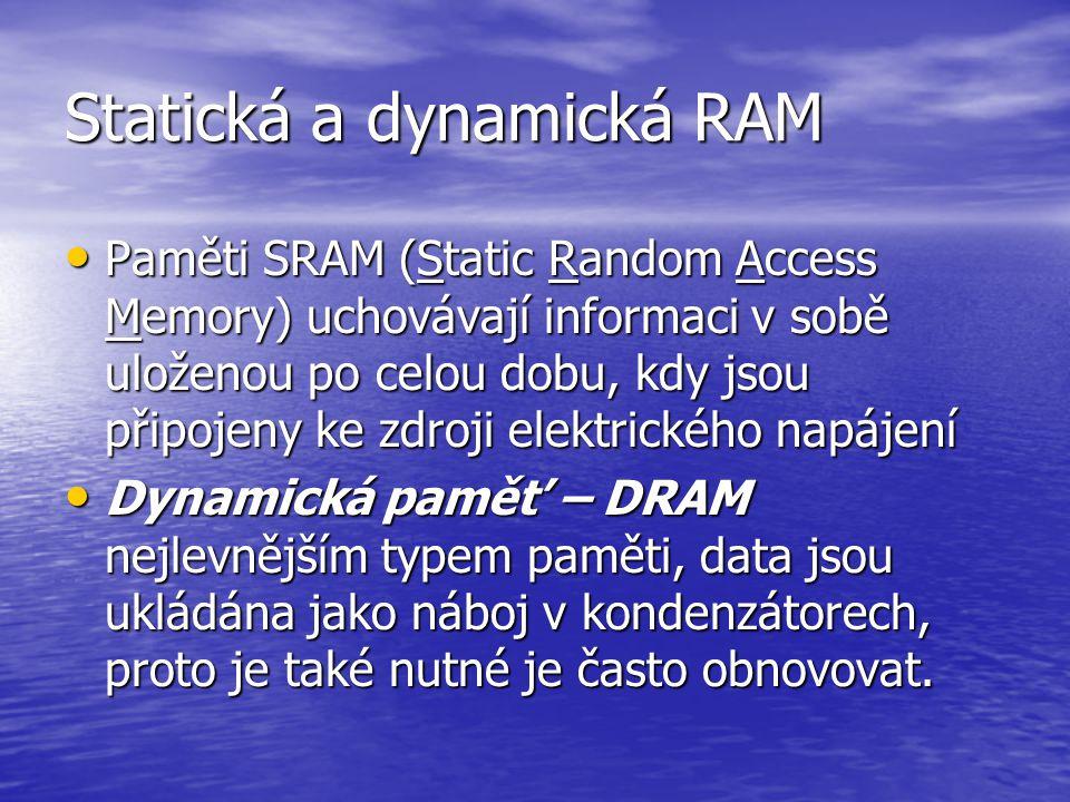 Statická a dynamická RAM