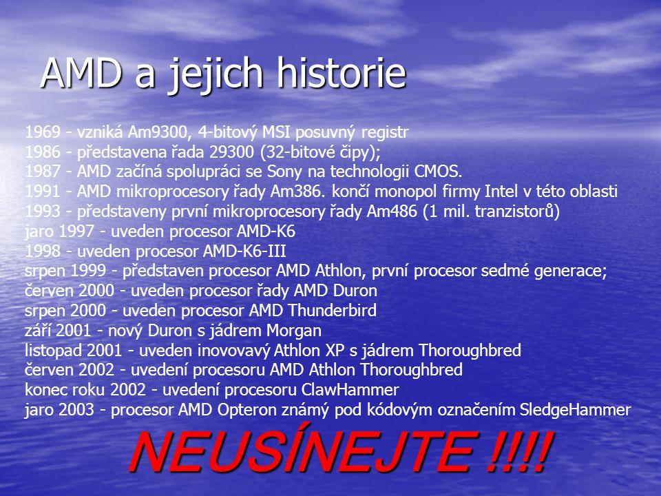 NEUSÍNEJTE !!!! AMD a jejich historie