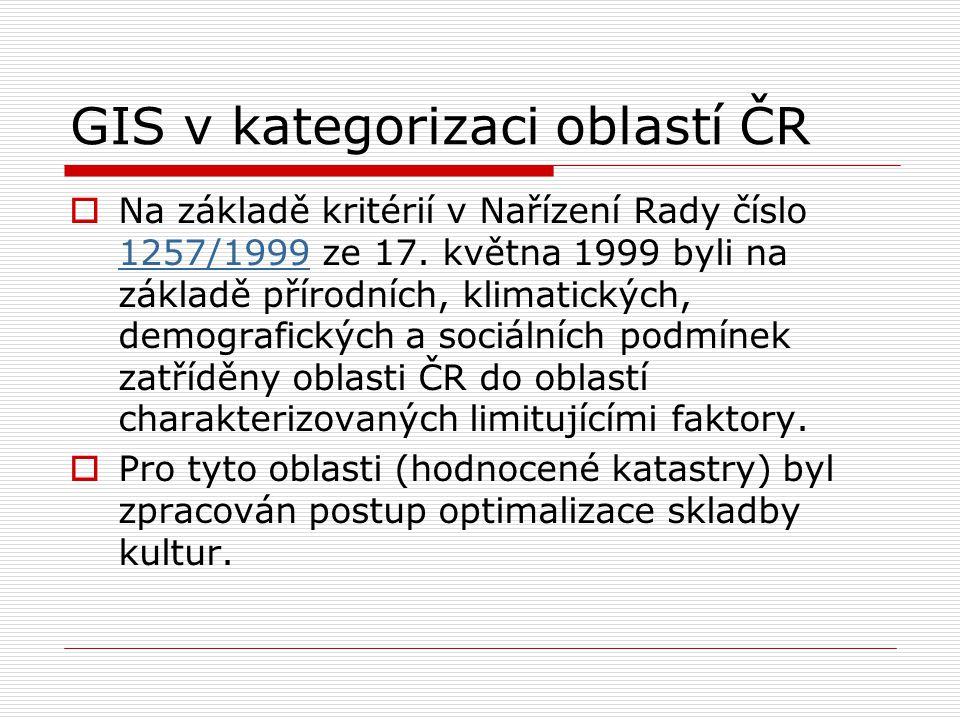 GIS v kategorizaci oblastí ČR