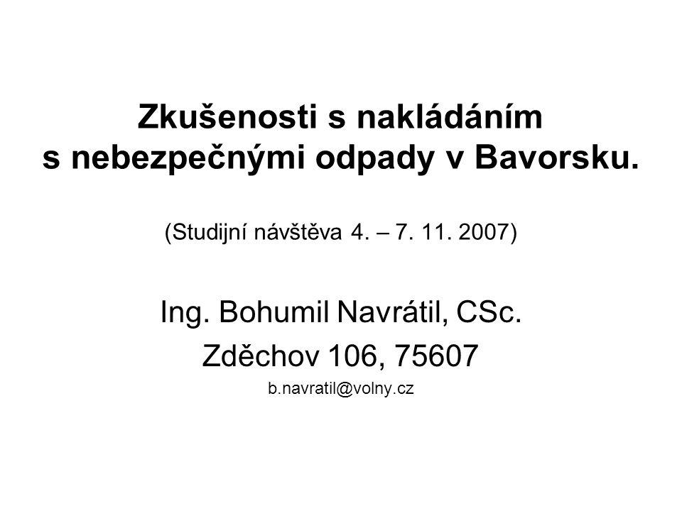 Ing. Bohumil Navrátil, CSc. Zděchov 106, 75607 b.navratil@volny.cz