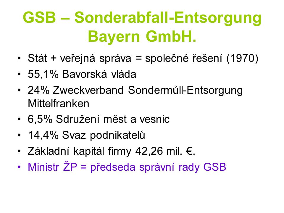 GSB – Sonderabfall-Entsorgung Bayern GmbH.