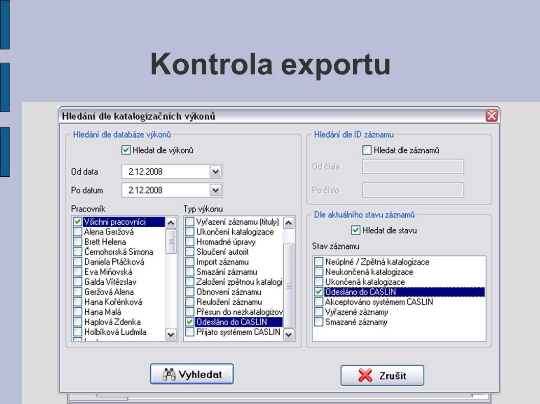 Kontrola exportu