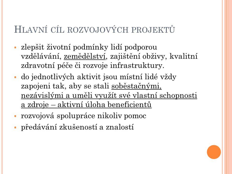 Hlavní cíl rozvojových projektů