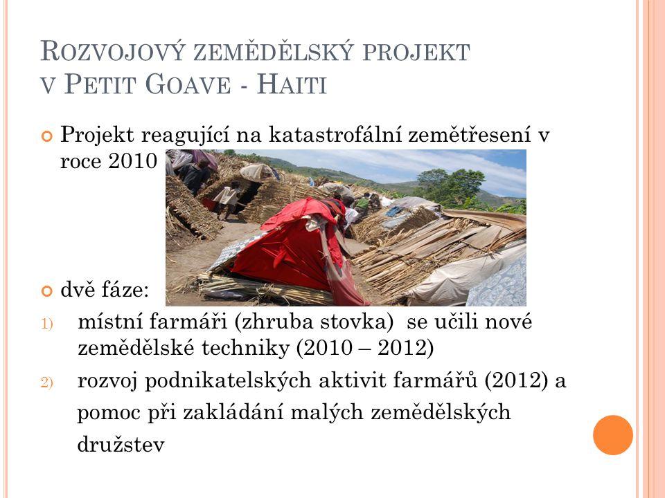 Rozvojový zemědělský projekt v Petit Goave - Haiti