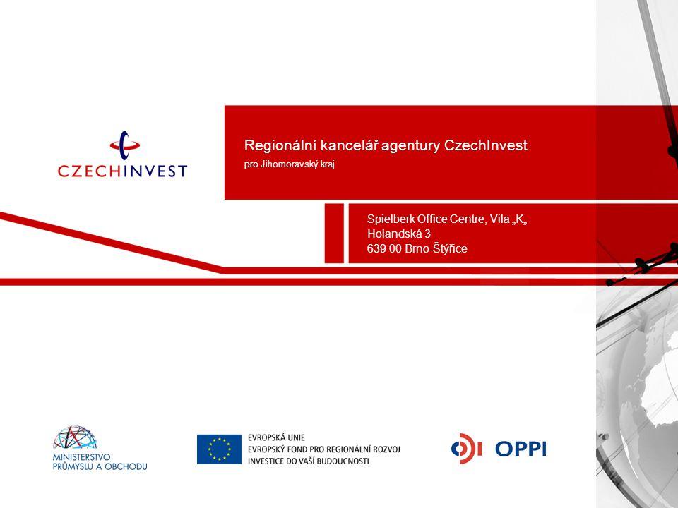 Regionální kancelář agentury CzechInvest pro Jihomoravský kraj