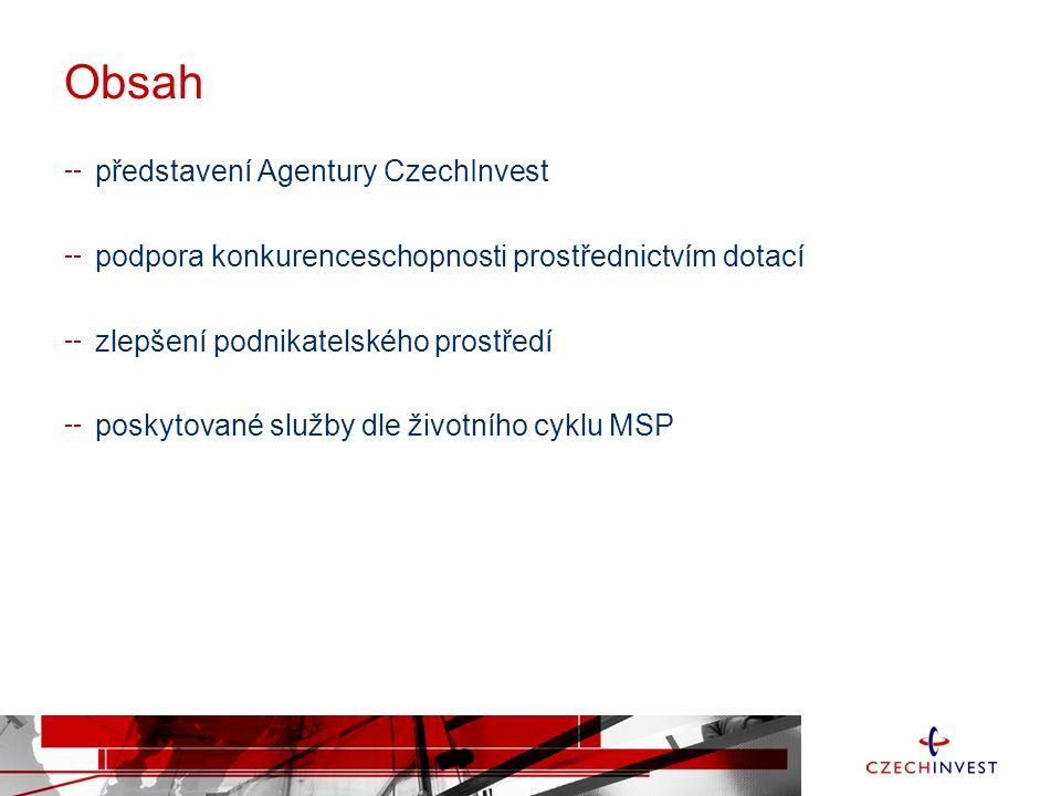 Obsah představení Agentury CzechInvest