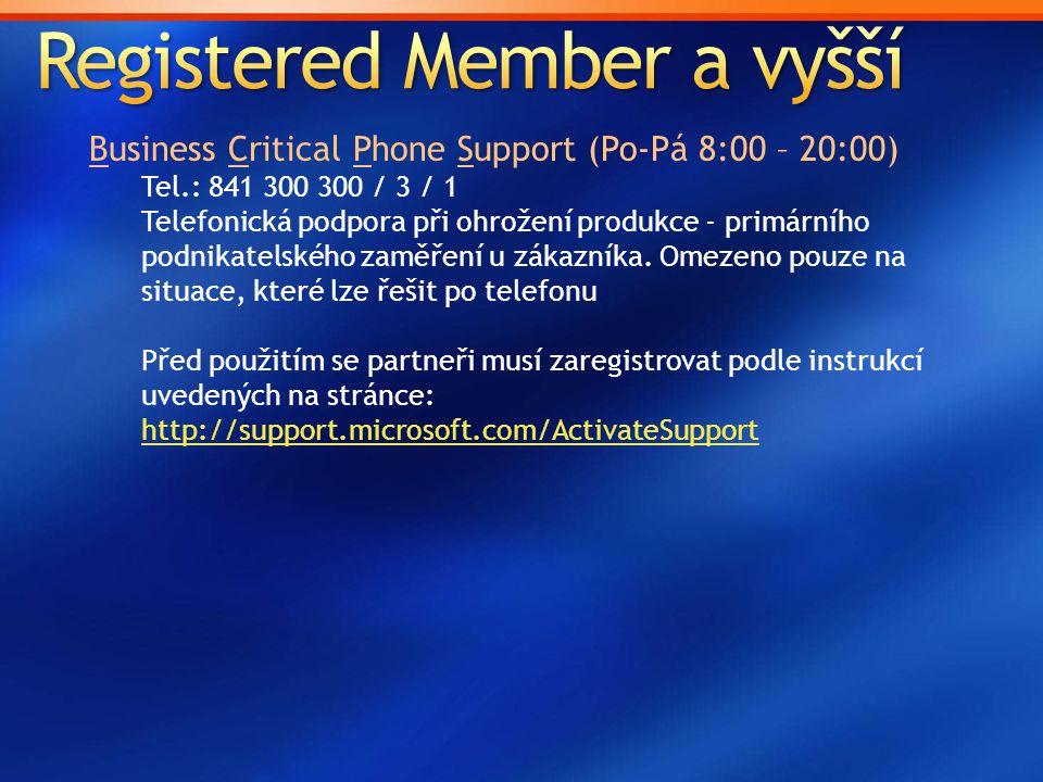 Registered Member a vyšší