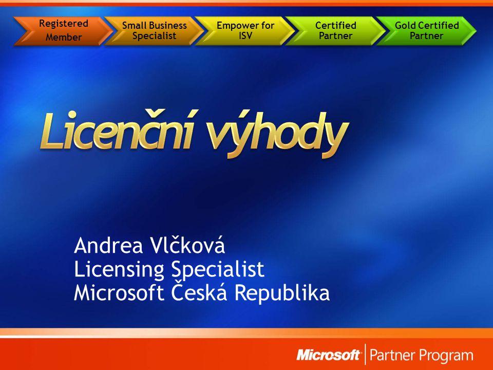 Andrea Vlčková Licensing Specialist Microsoft Česká Republika