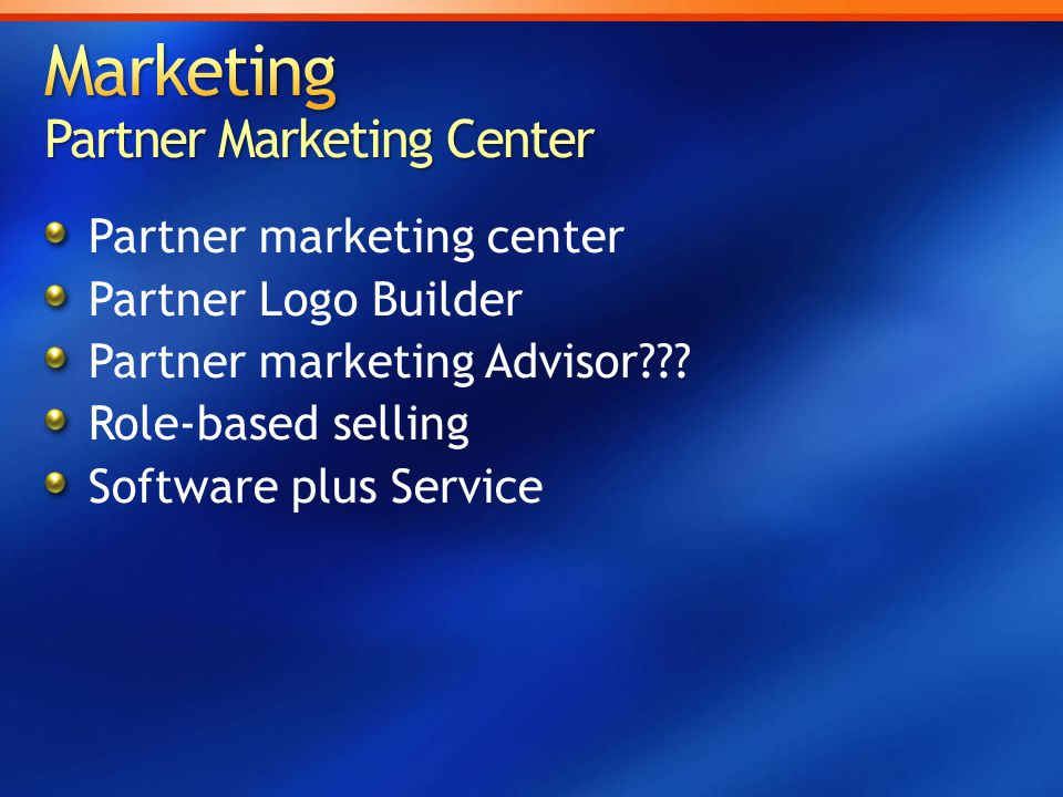Marketing Partner Marketing Center