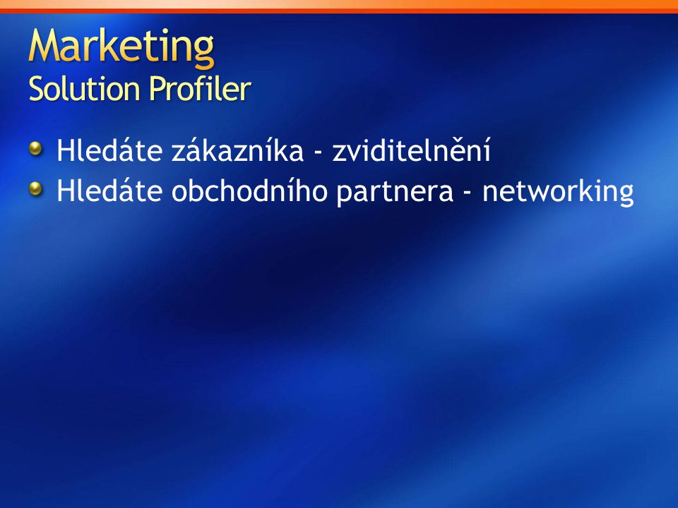 Marketing Solution Profiler