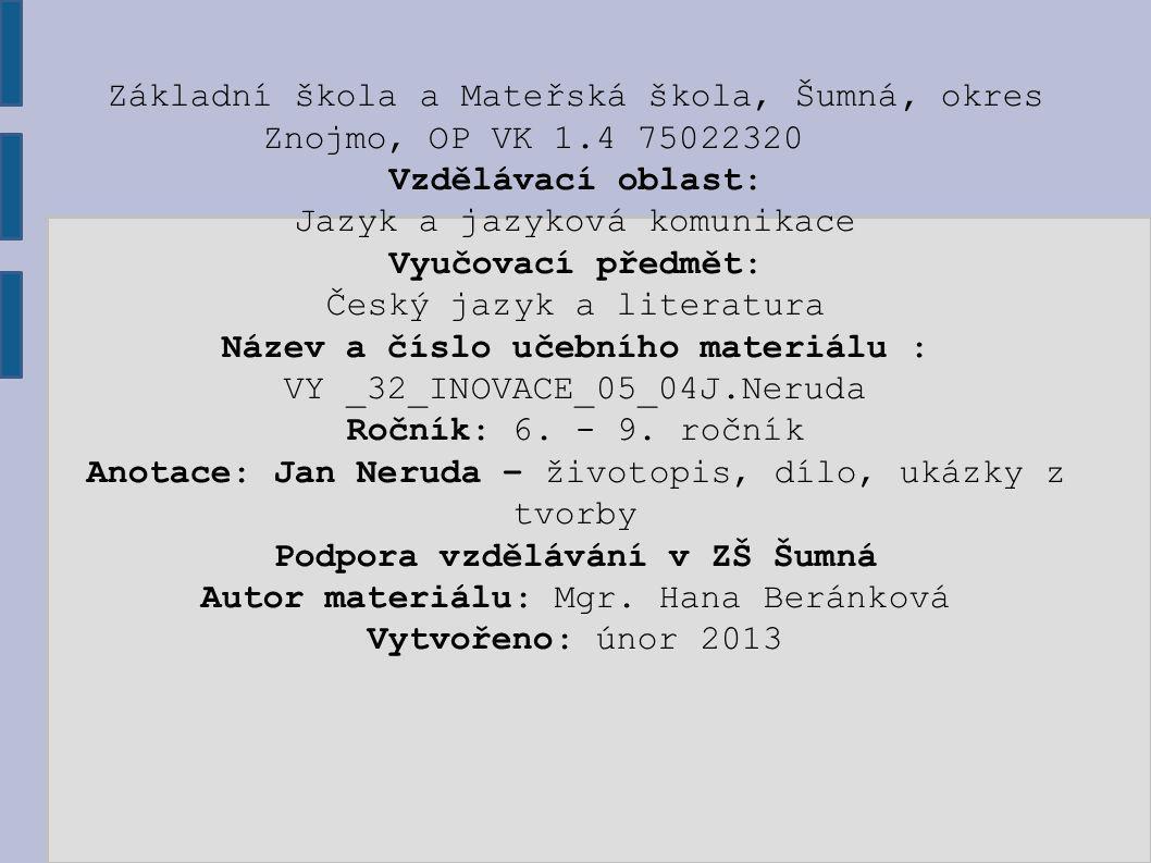 VY _32_INOVACE_05_04J.Neruda