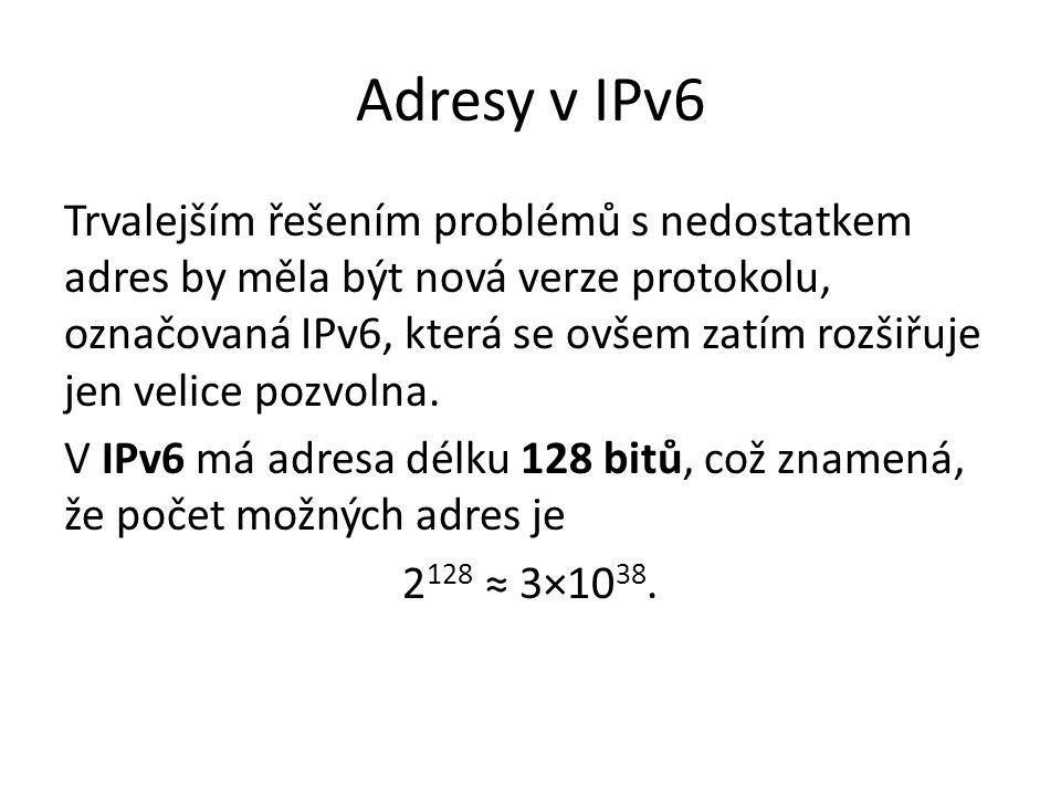 Adresy v IPv6