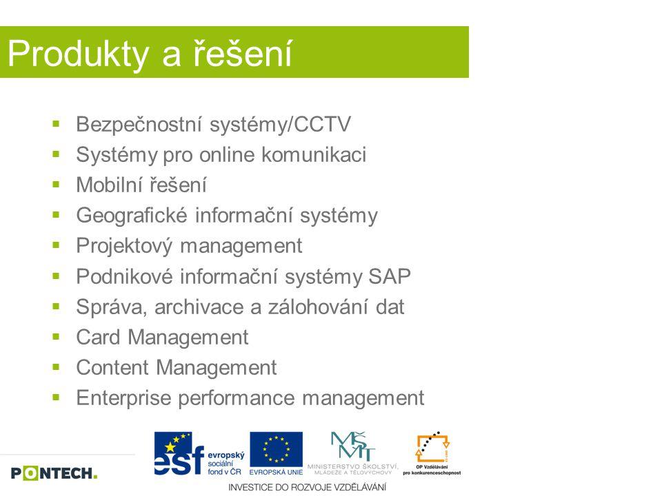 Produkty a řešení Bezpečnostní systémy/CCTV