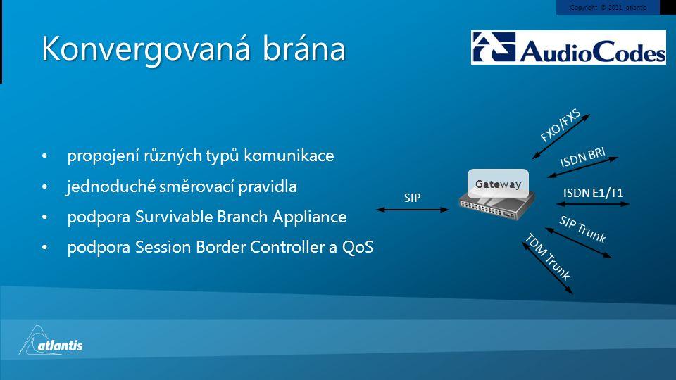 Konvergovaná brána propojení různých typů komunikace