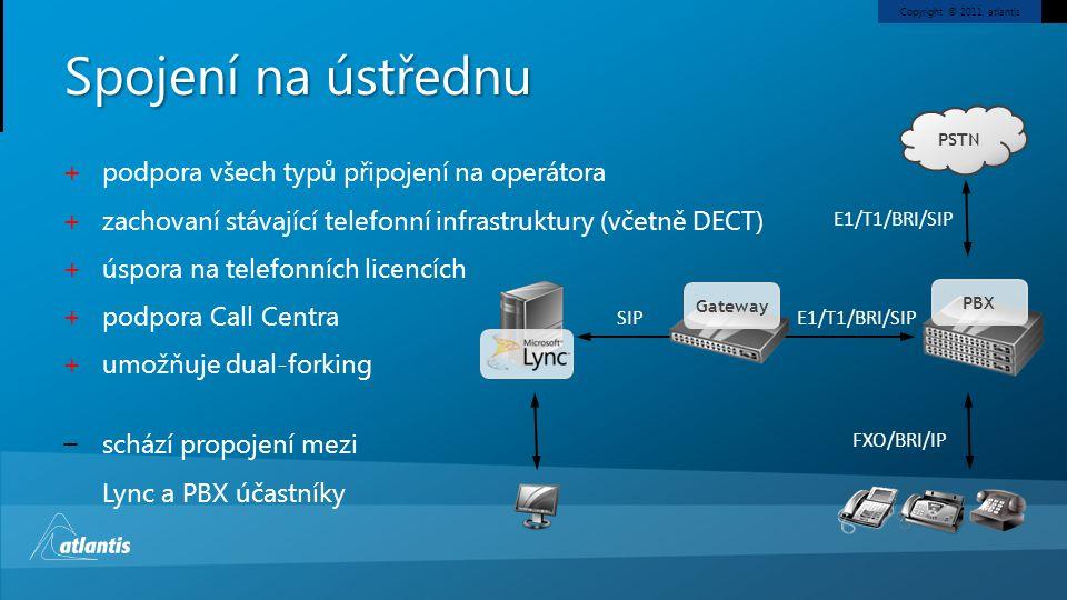 Spojení na ústřednu podpora všech typů připojení na operátora
