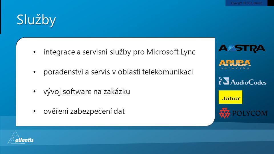 Služby integrace a servisní služby pro Microsoft Lync