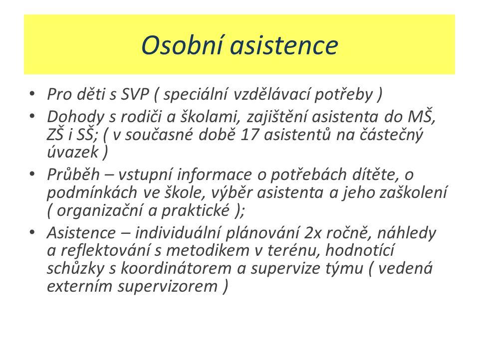 Osobní asistence Pro děti s SVP ( speciální vzdělávací potřeby )