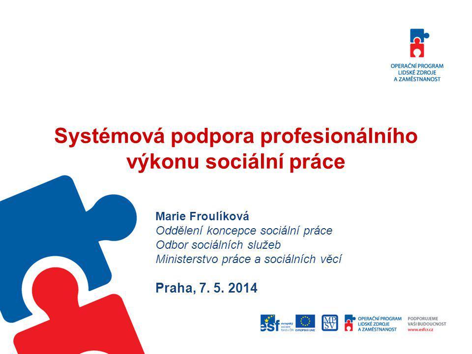 Systémová podpora profesionálního výkonu sociální práce