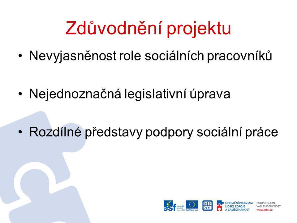 Zdůvodnění projektu Nevyjasněnost role sociálních pracovníků