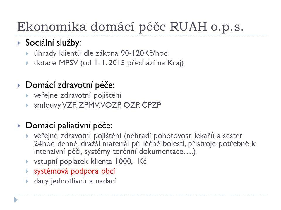 Ekonomika domácí péče RUAH o.p.s.
