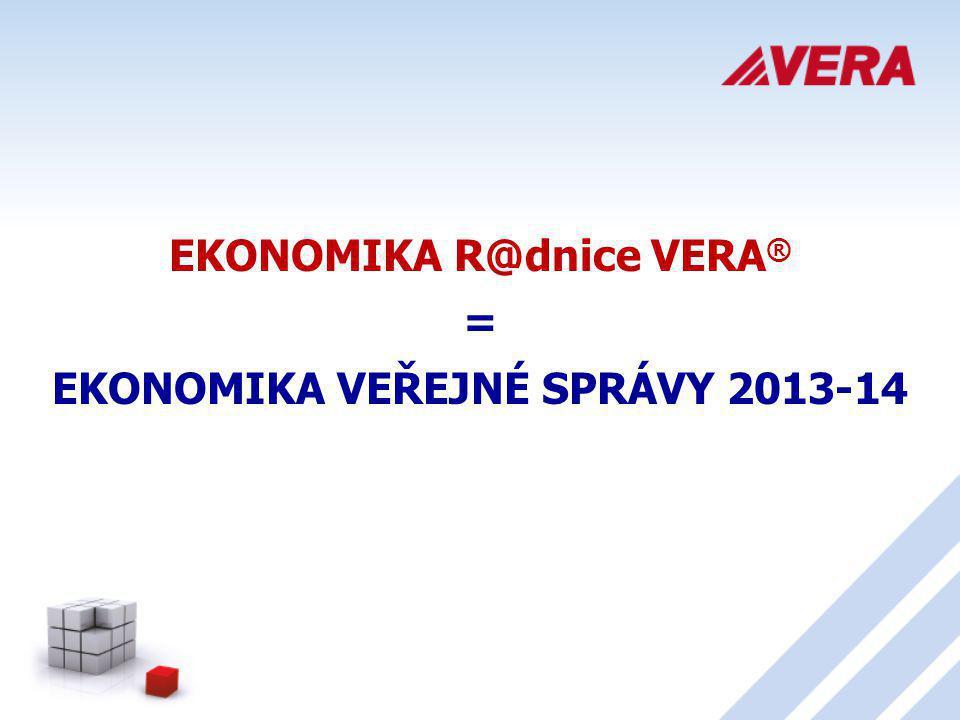 EKONOMIKA R@dnice VERA® EKONOMIKA VEŘEJNÉ SPRÁVY 2013-14