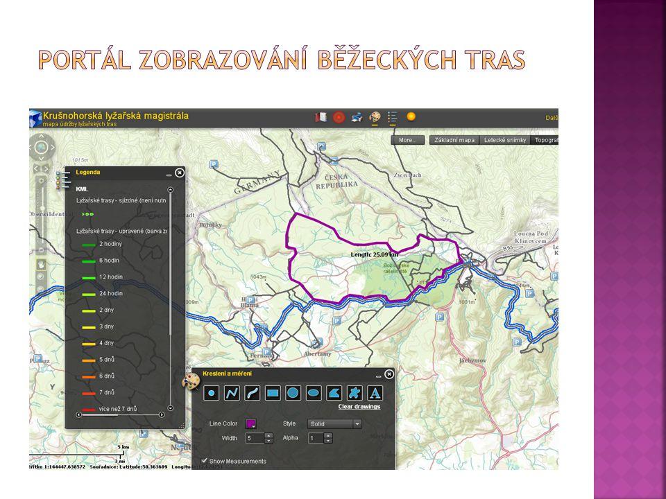 Portál zobrazování běžeckých tras