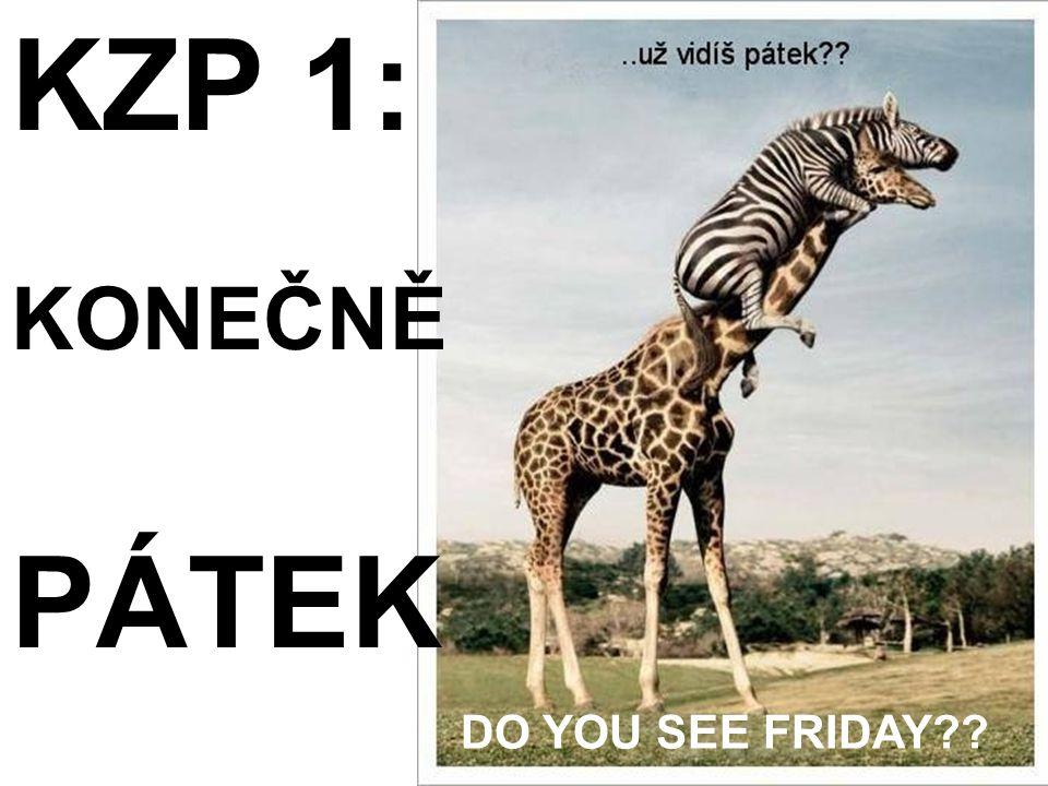 KZP 1: KONEČNĚ PÁTEK DO YOU SEE FRIDAY