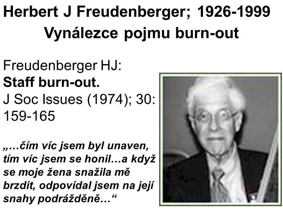 Vynálezce pojmu burn-out