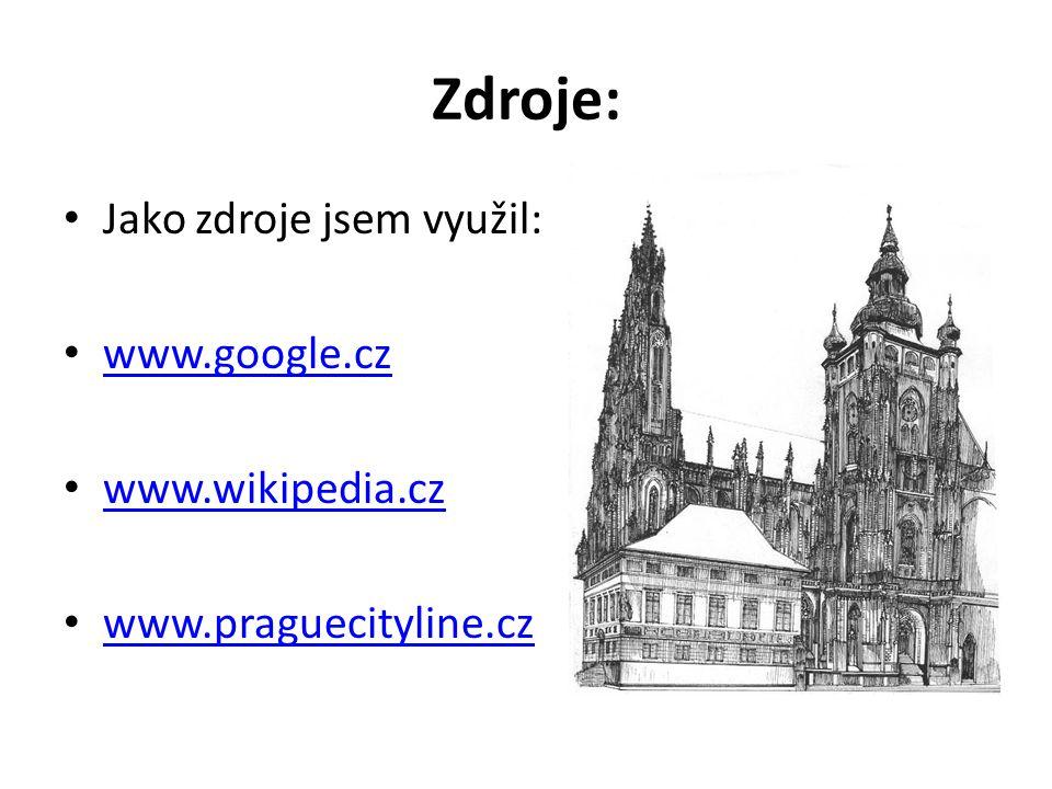 Zdroje: Jako zdroje jsem využil: www.google.cz www.wikipedia.cz